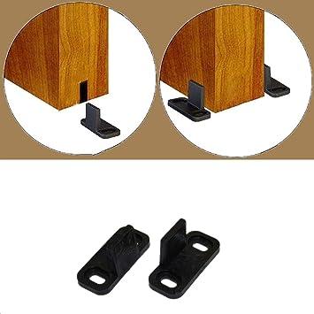 HAPYLY - 2 piezas de rodillo de puerta corredera guía inferior de ...