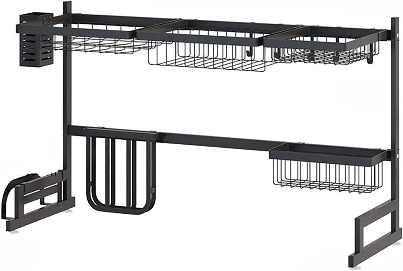 OH Plato Tendedero 2-Tercer Plato de Secado Rack Sobre Escurridor Fregadero de Acero Inoxidable Estante de Drenaje para el Hogar de la Cocina Del Diseño Moderno Firma