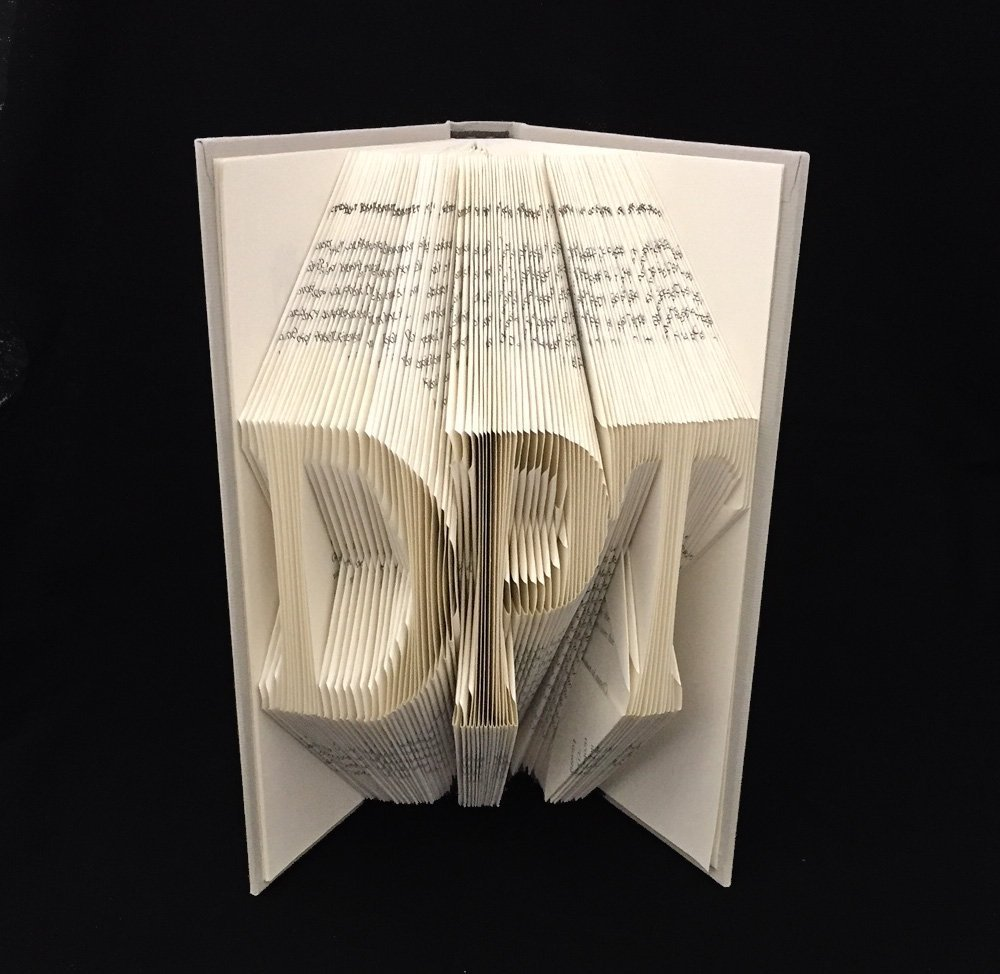 DPT ~ 3 Letters ~ Doctor of Physical Therapy ~ Graduation Gift ~ Folded Book Art Sculpture (choose three letters)