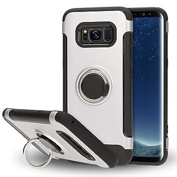 NALIA Funda con Anillo Compatible con Samsung Galaxy S8, Carcasa Soporte Movil Coche Magnetico con 360 Grados Kickstand, Movil Ring-Case Cover ...