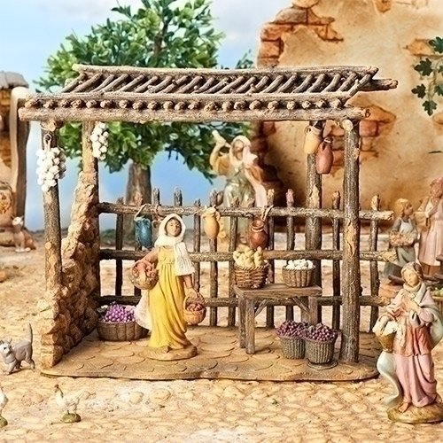 Fontanini Bazaar Italian Nativity Village Building Figurine 55586 Made in Italy by Fontanini