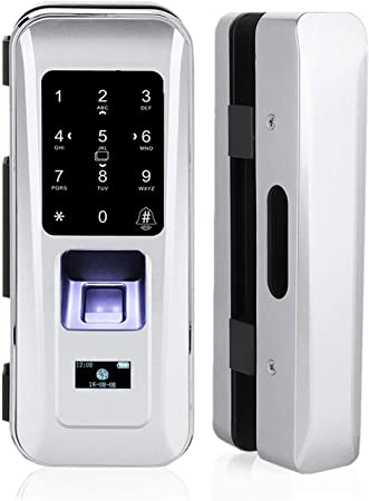 Cerradura de Seguridad Inteligente, Cerradura Electrónica Biométrica de Puerta de Vidrio con 3 ...