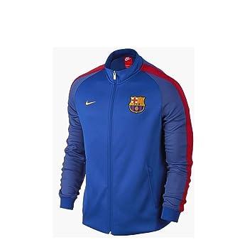 Los hombres del FC Barcelona N98 2016 - 2017 Anthem chaqueta de chándal  azul b1e0f770fb8