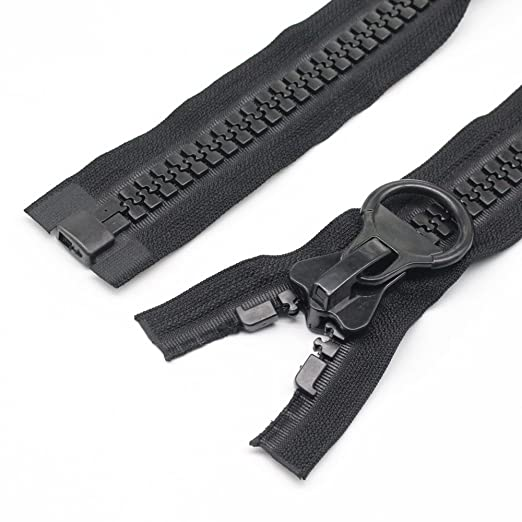 80 cm YaHoGa 80 cm #20 Super Grandes separaci/ón Cremalleras de pl/ástico Cremalleras de Color Negro Resistentes para Coser Abrigo Tienda