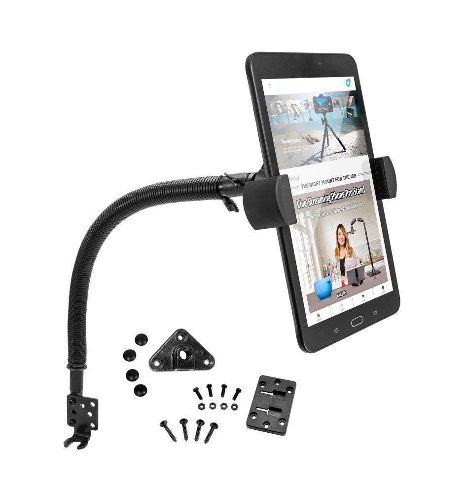 プレミアム車マウントボルトPro Seat Vehicleホルダー電話マウントfor Samsung Galaxy Tab s2 s3 4 5タブレット( 7 – 8インチ) W /防振回転クレードル(またはケースのない) B077VYHNSS