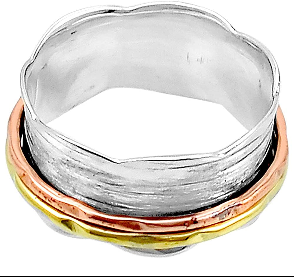 9 Desiregem Anti Anxiety and Worry Less Spinner Ring Spinning Size DGR1037