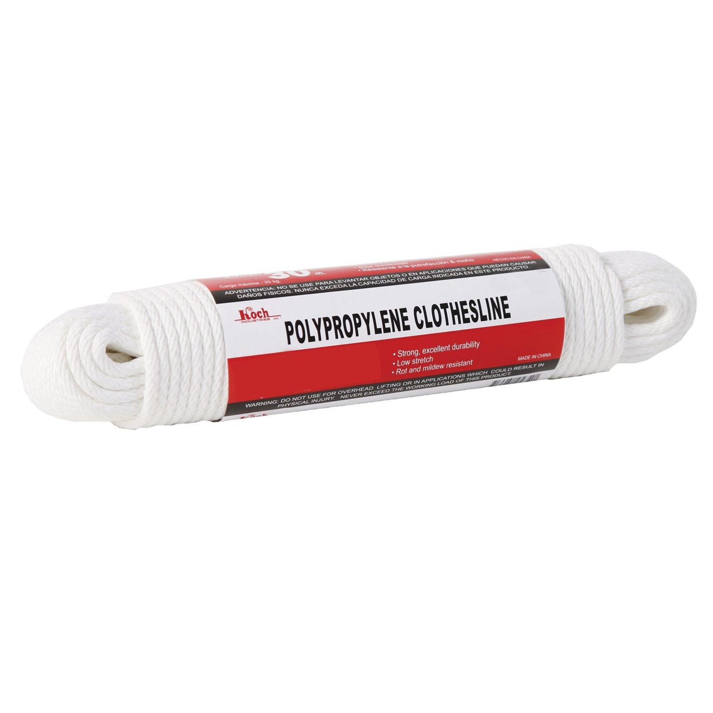 Koch Industries 5660825 Hank Polypropylene Clothesline, 1/4-Inch by 100-Feet, White