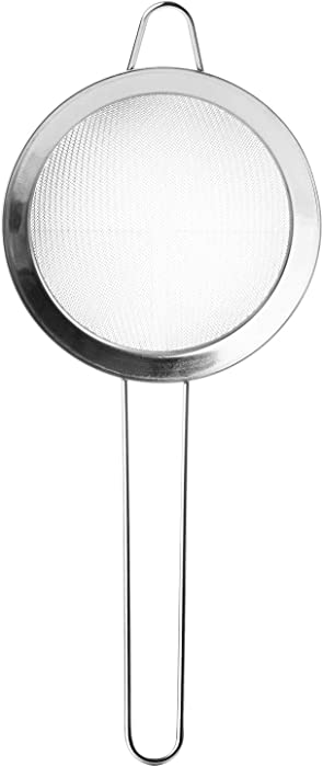 SRIVILIZE888 Fine Mesh Strainer, Colander Sieve Sifters with Long Handle for Kitchen 9 inch long Bar Tools Juice Strainer Cooking Metal Colander Drainer Tea Coffee Powder Food Stainless Steel