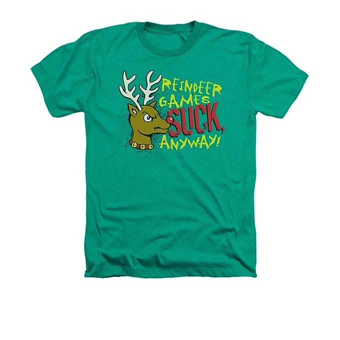 Reno Juegos Suck de todos modos divertido Navidad Adulto Heather camiseta