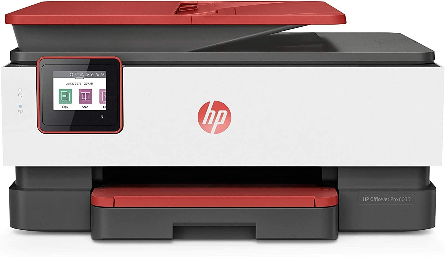 HP OfficeJet Pro 8035 All-in-One Wireless Printer | Includes 8 Months of Ink Delivered to Your Door, Smart Home Office Productivity, Coral (4KJ65A)
