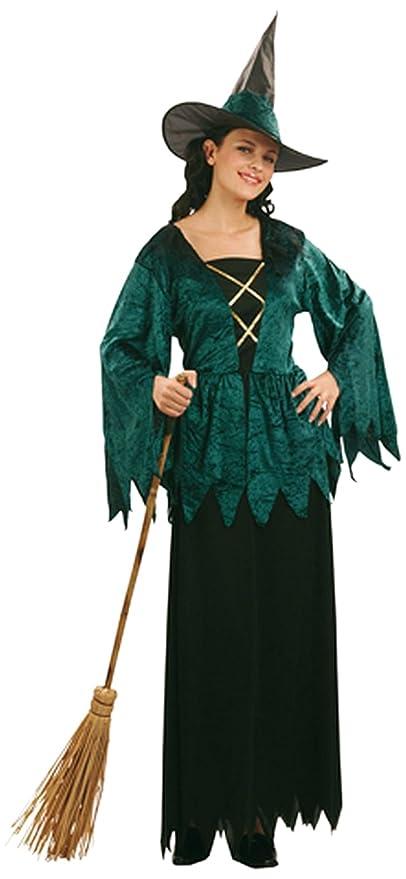 2102a38349e1 Damen-Kostüm Green Witch, Einheitsgröße -Hexe-Hexen-Kleid-Halloween-  Hexenkostüm Artnr. 87206