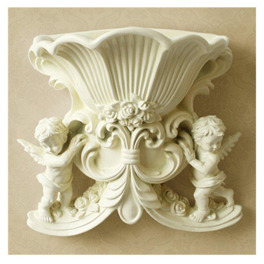 Ownstyle 3d Angelヴィンテージスタイルフラワー花瓶/装飾 ベージュ B01LX89JJ6ベージュ