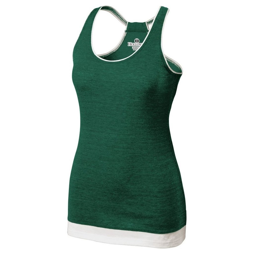 Holloway Juniors Pep Vintage Tank (X-Small, Vintage Forest/White)