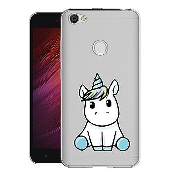Xiaomi Redmi Note 5A Prime Funda, ivencase Carcasa Flexible Ultra Slim Transparente Crystal Clear Soft TPU Silicone Back Bumper de Alta Resistencia ...