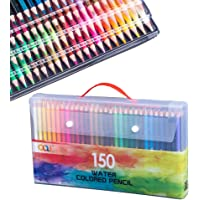 150 Watercolor Pencil Set, Professional Watercolor Pen, with Brush, Adult Artist Water-Soluble Pencil, Ideal for…