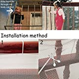 ProttyLife Balcony Stairs Safety Net-Kid Safe Deck Guard Roving Cove ,Banister Stair Net
