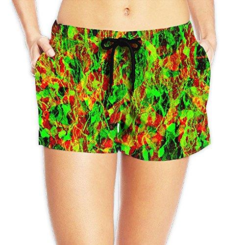 Weigin Womens Neural Stem Progenitor Cells Quick Dry Waistband Pockets Beach Short Summer Swimsuit Medium