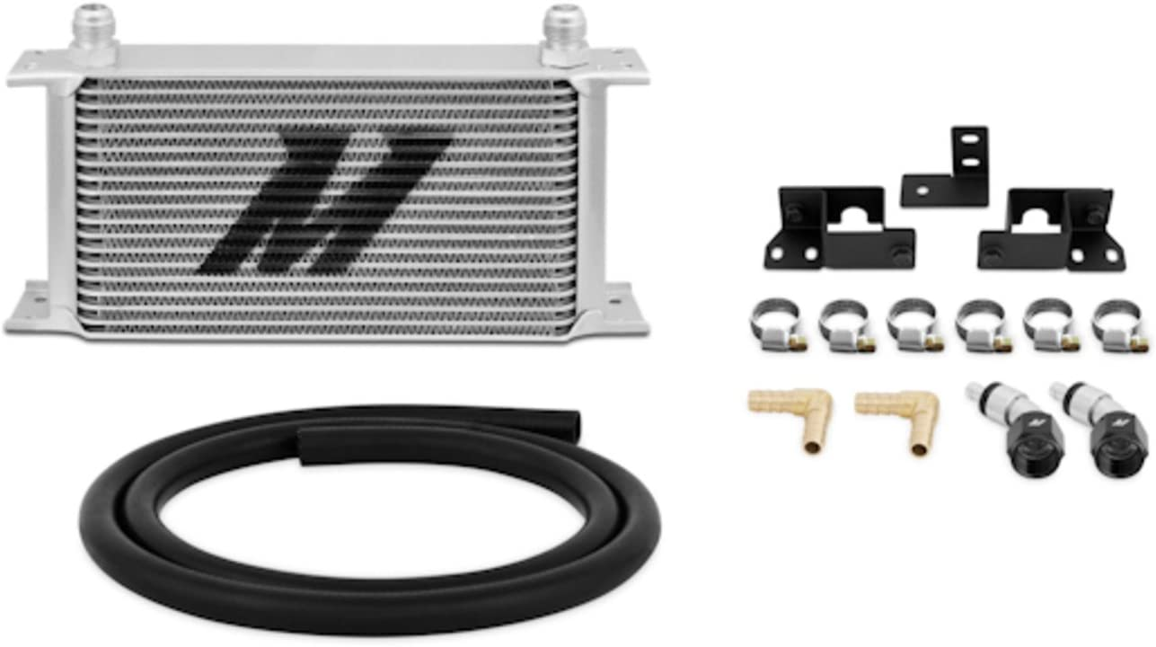 Mishimoto MMTC-WRA-07 Transmission Cooler Compatible With Jeep Wrangler JK 2007-2017 Silver