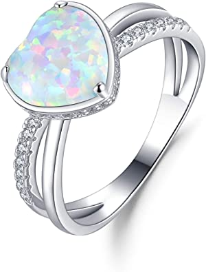 Opal Jewelry October Birthstone Statement Ring Oval Ring Prong Ring Cocktail Ring Blue Opal Ring Engagement Ring Gold Ring
