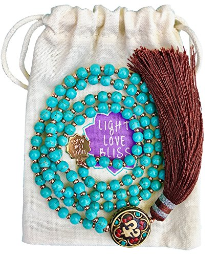 Buddha Guides (Mala Beads For Yoga Meditation - Zen Gemstone Necklace Spirit Jewelry For Prayer and Positive Affirmations Namaste Bracelet in Gift Bags Best Mantra Guide For Stress And Anxiety)