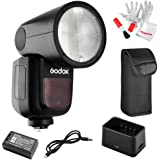 Godox V1-C Flash for Canon, 76Ws 2.4G TTL Round Head Flash Speedlight, 1/8000 HSS, 480 Full Power Shots, 1.5s Recycle Time, 2