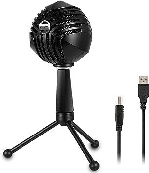 ammoon Micrófono de Condensador USB con Cable MIC con Sobremesa ...