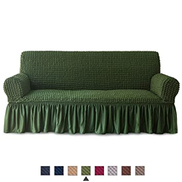 Fantastic Niceec Sofa Slipcover Green Sofa Cover 1 Piece Easy Fitted Sofa Couch Cover Universal High Stretchable Durable Furniture Protector With Skirt Country Beatyapartments Chair Design Images Beatyapartmentscom