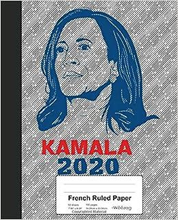 French Ruled Paper Book Kamala Harris 2020 President Usa Weezag 9781072390299 Books Amazon Ca