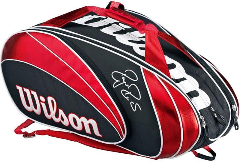 Wilson(ウイルソン) FEDERER 15PK レッド×ブラック (15本収納) WRZ833215