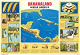 Historic Map | Bananaland : Middle America 1958 | Historic Antique Vintage Map Reprint | 24in x 36in
