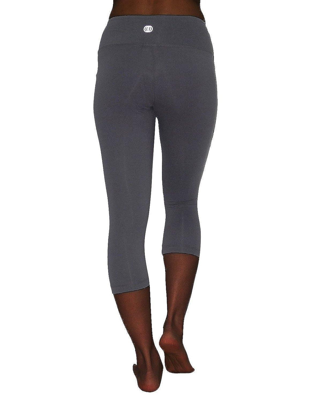 b59e9aa4ab7c76 Amazon.com: Balance Collection (By Marika) Womens Leggings / Yoga Capri  Pants Medium Grey: Clothing