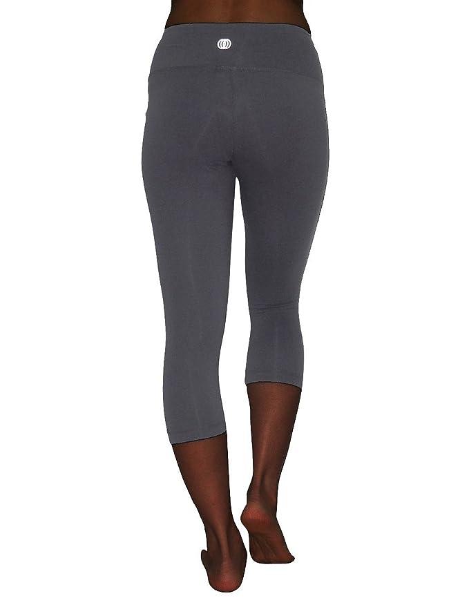 1a604979ba881b Amazon.com: Balance Collection (By Marika) Womens Leggings / Yoga Capri  Pants Medium Grey: Clothing
