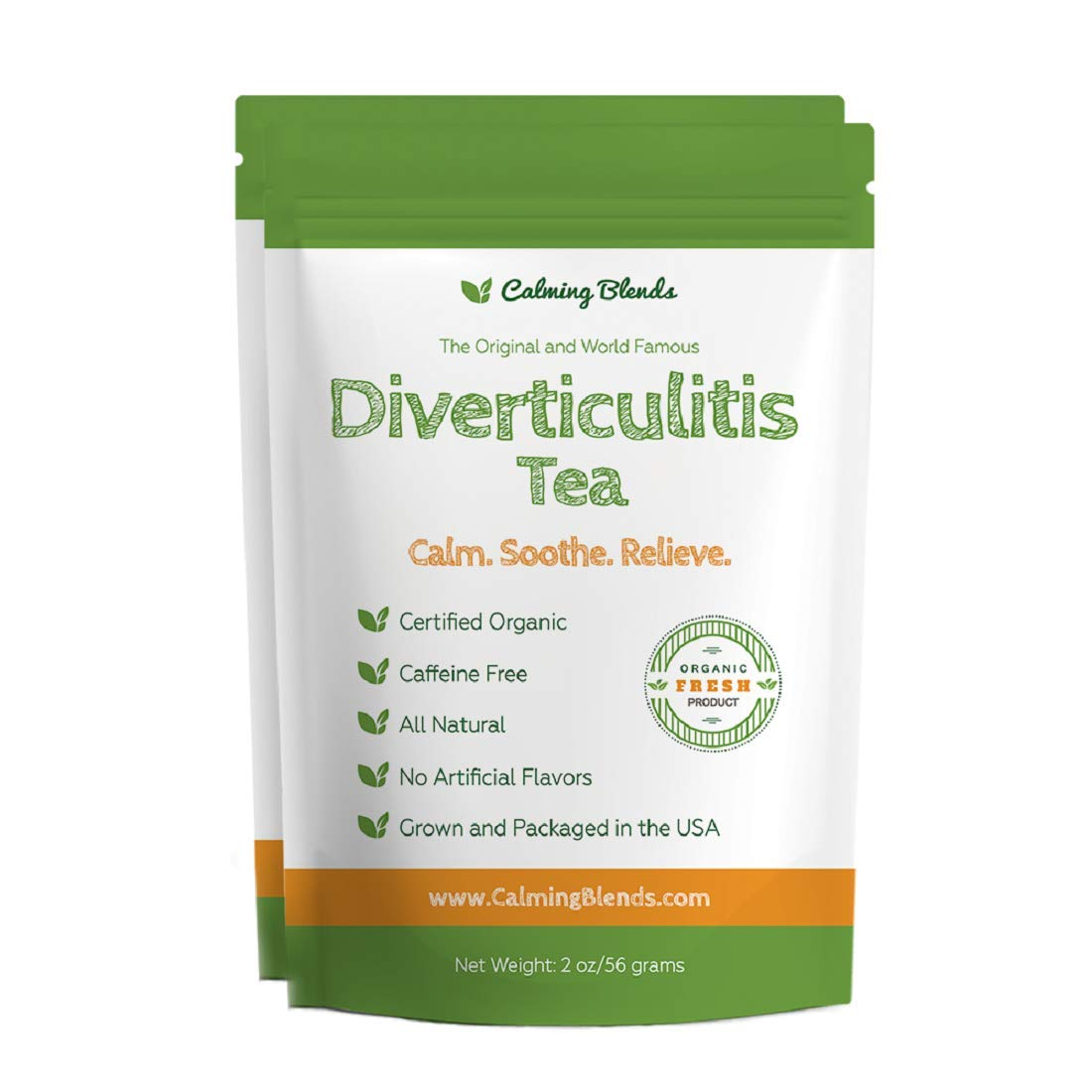 Diverticulitis and Diverticulosis Tea. 2-Pack