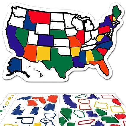 Amazon.com: RV State Sticker Travel Map - 13\