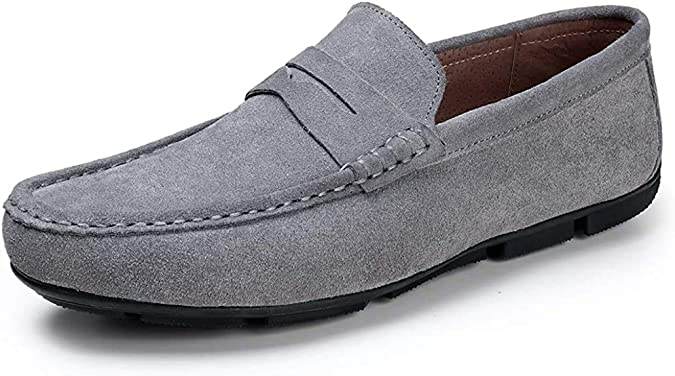 DUORO Herren Mokassin Wildleder Fahrschuhe Halbschuhe Flache Bootsschuhe Slippers Loafers