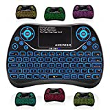 Anewish Mini Keyboard Wireless Remote Control Game Keyboard 2.4GHz USB Keyboard for Android