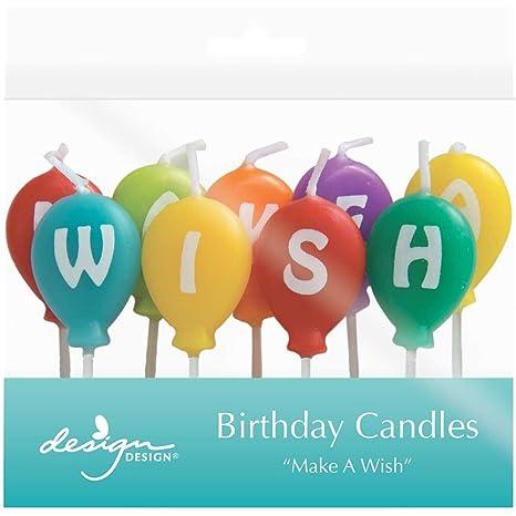Amazon.com: JAM papel® Velas de cumpleaños – pide un deseo ...