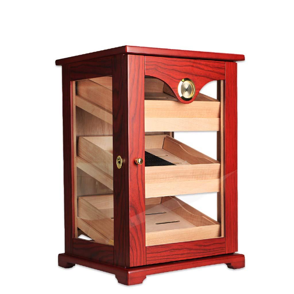 シガレットケース シガーキャビネットシガーボックスシガーヒュミドール純粋なシダーウッドシガーキャビネット100スティック大容量のヒュミドール (Color : Red, Size : 29*33.4*49cm) B07HVS44FM Red 29*33.4*49cm