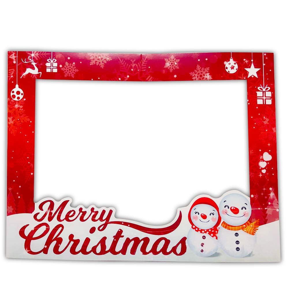 Christmas Photo Booth Props Frame Party Supplies for Christmas Party Family Reunions Christmas New Year Party Decoration FarWarm