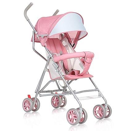 Baobcher Cochecitos para niños pequeños Peso Ligero Plegable para bebés Carro Simple Cómodo Sistema de Viaje