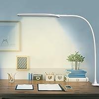 Lámpara Escritorio LED Hokone Flexo de Escritorio 9W Lámpara de Lectura 3 * 10 Modos de Brillo Lámpara de Mesa Lámpara de Oficina para Leer Studiar