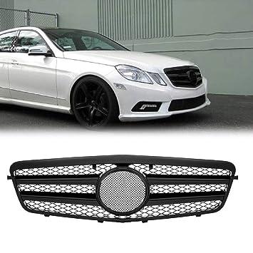 Rejilla delantera para Benz W212 E250 E550 E350 E63 AMG estilo 10-13 4 puertas, color negro brillante: Amazon.es: Coche y moto