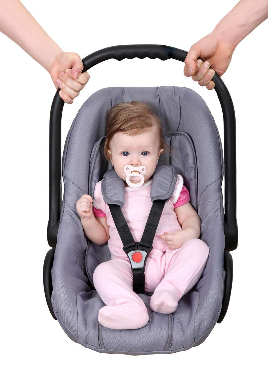 Car Seats Lebogner 3D Air Mesh Cool Baby Seat Liner for Strollers Infants Thick Cushion Seat Pad Protector Bouncer and More and Toddlers Jogger Supports Newborns Installs Quick and Easy Grey