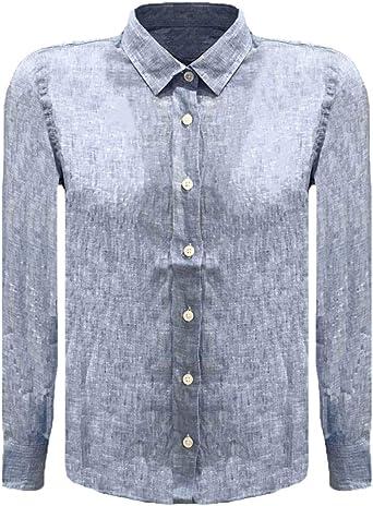 RONNIE KAY Camisa de Lino niños, Celeste: Amazon.es: Ropa y ...