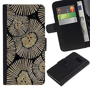 KLONGSHOP / Tirón de la caja Cartera de cuero con ranuras para tarjetas - Wall Design Art Inspiration - Samsung Galaxy S6 SM-G920