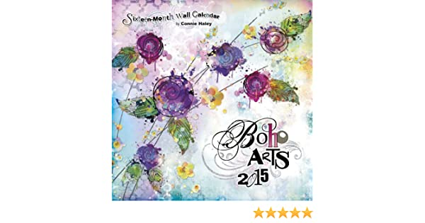 boho arts connie haley 2015 line paper wall calendar trends