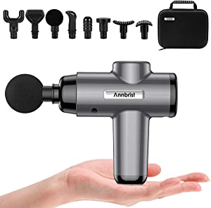 Massage Gun Deep Tissue Massager, Muscle Massager Percussion Massager Cordless 5 Speed 6 Heads, USB Powered, Portable for Home Gym and Travel, Small Holder More Suitable for Women and Teenagers