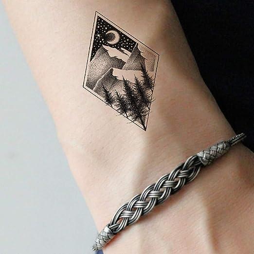 tzxdbh 5 Unids Diamond Hill Tatuaje Temporal Mujeres Cuerpo Brazo ...
