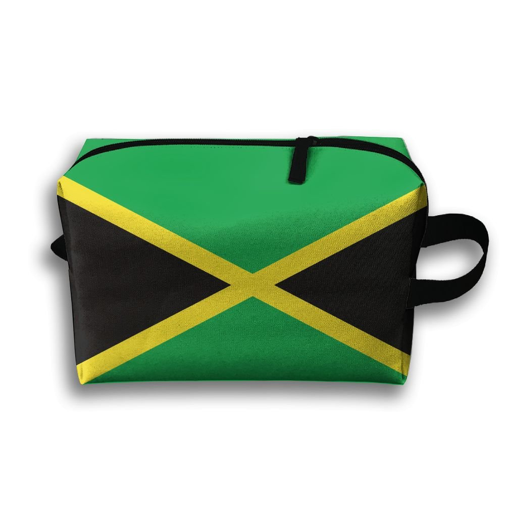 Jamaica Flag Small Travel Toiletry Bagスーパーライトトイレタリーオーガナイザー一泊旅行用バッグ B07B9RXNNW