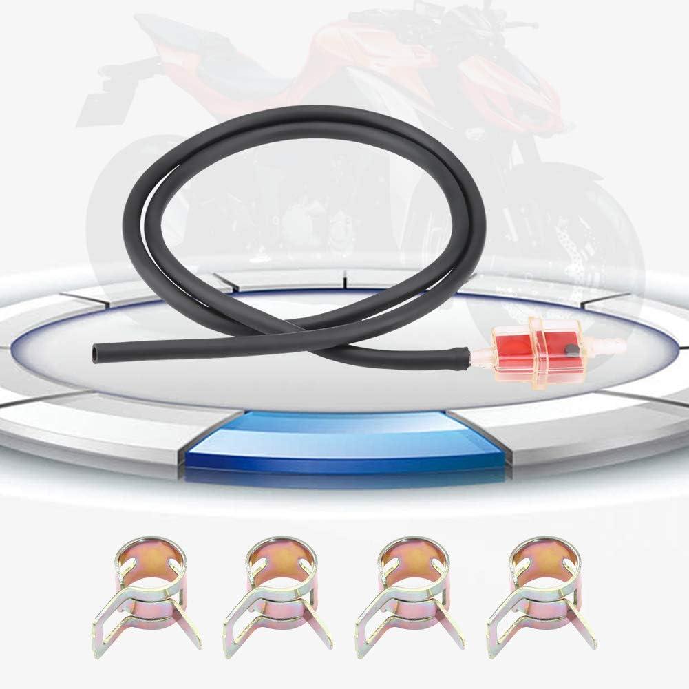 Fydun 6mm 1//4 Zoll Motorrad Roller Square Kraftstofffilter Kraftstofffilter rot Kraftstoffschlauch Leitungsklemmensatz